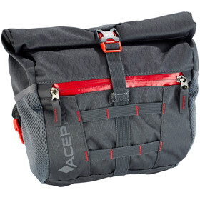 Acepac Bar Bag Bike Pannier grey/red